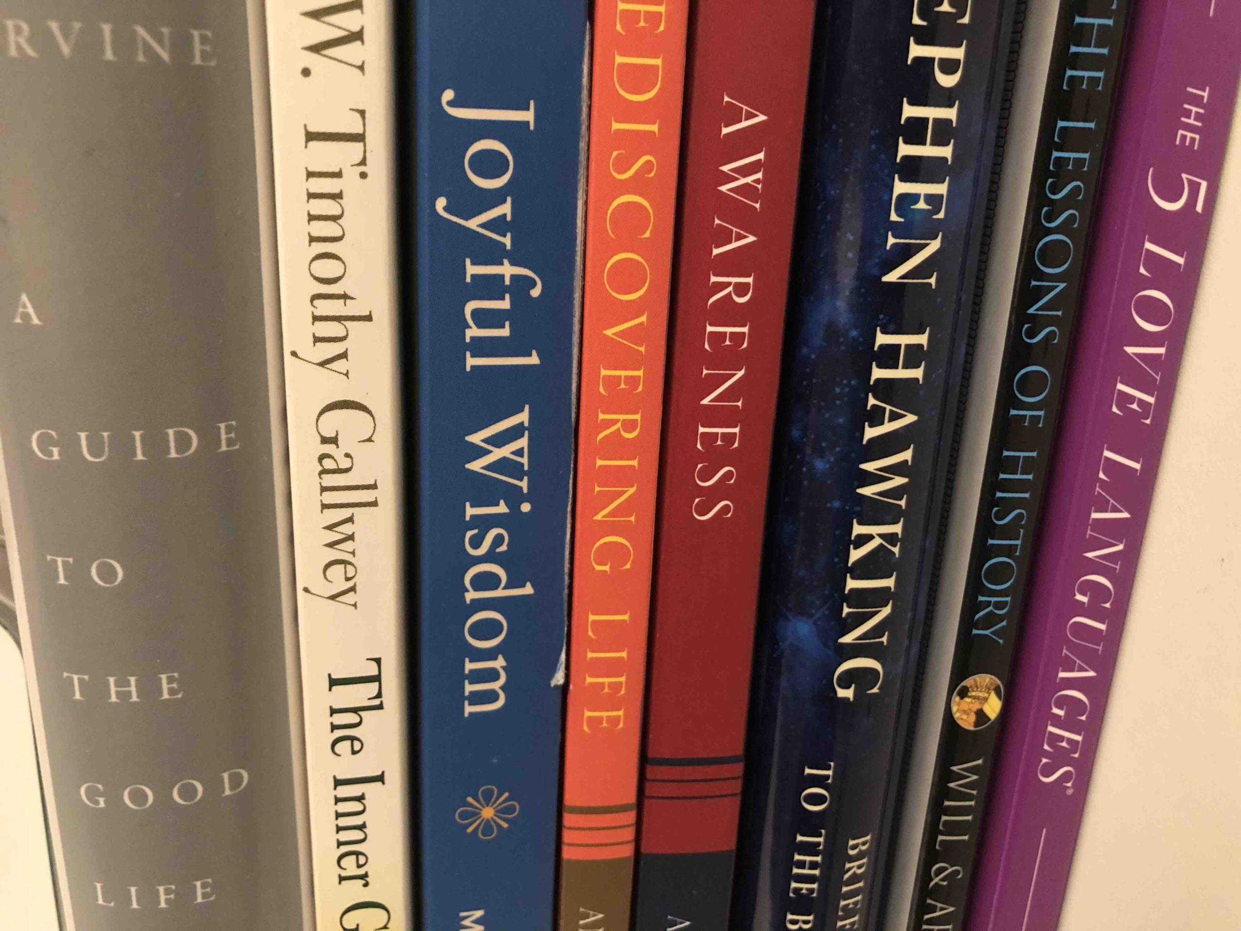 Books about enjoying life on a Bookshelf