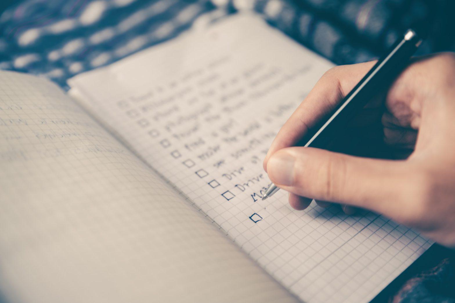 Man making a list
