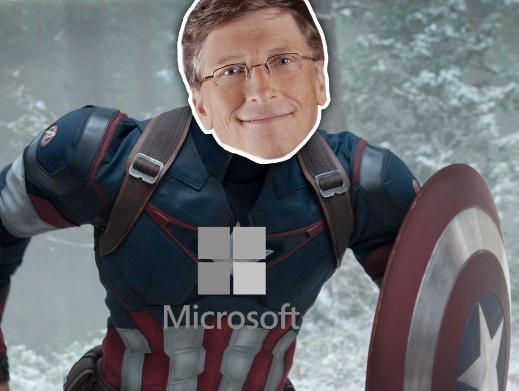 Microsoft as Captain America