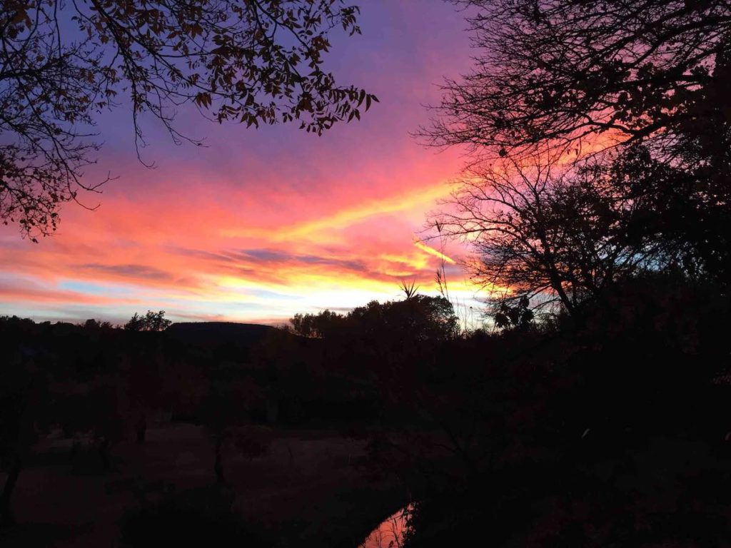 Sedona Sunset with Clouds