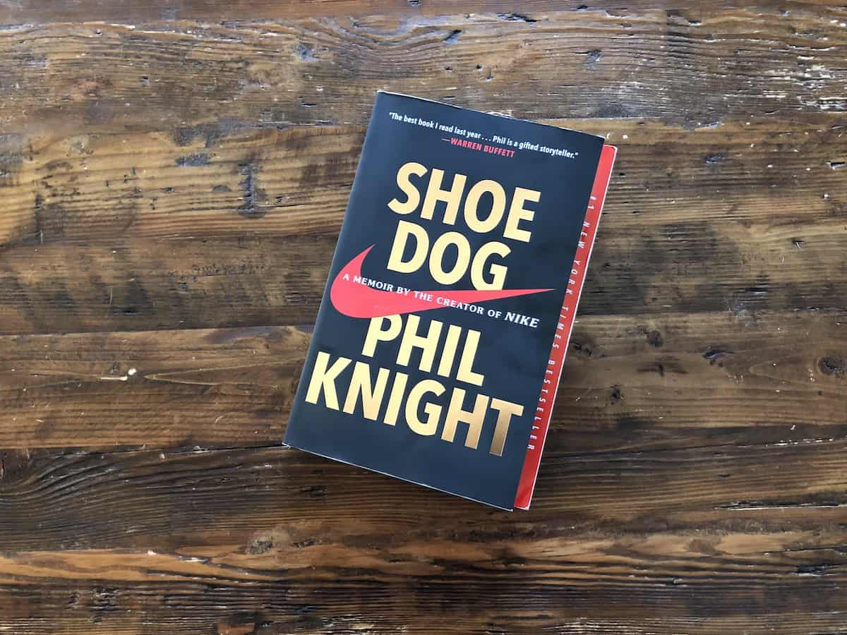 Shoe Dog by Phil Knight on Coffee Table